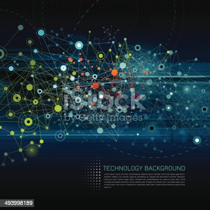 istock Abstract Network Background 493998189