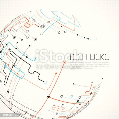 Abstract network background - layered illustration with global colors. Eps 10 with transparency elements.