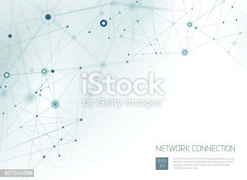 Abstract network background. EPS 10 file with transparencies. File is layered and global colors used.