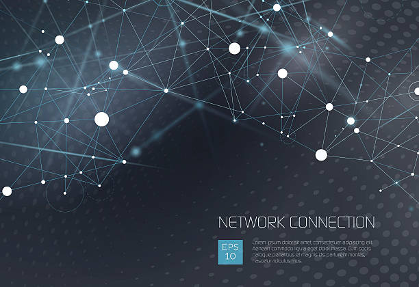 abstract network background - science and technology background stock illustrations
