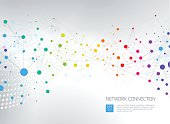 Abstract network background. File is layered and global colors used.