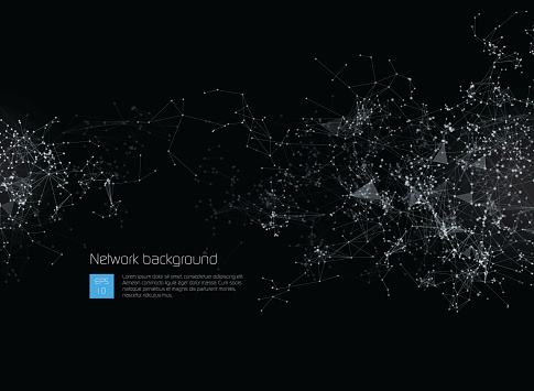 Abstract Network Background Stock Illustration - Download Image Now