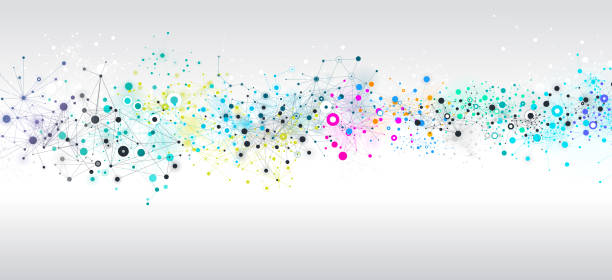abstract network background - bio tech stock illustrations