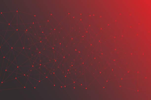 ilustrações de stock, clip art, desenhos animados e ícones de abstract network background - vr red background