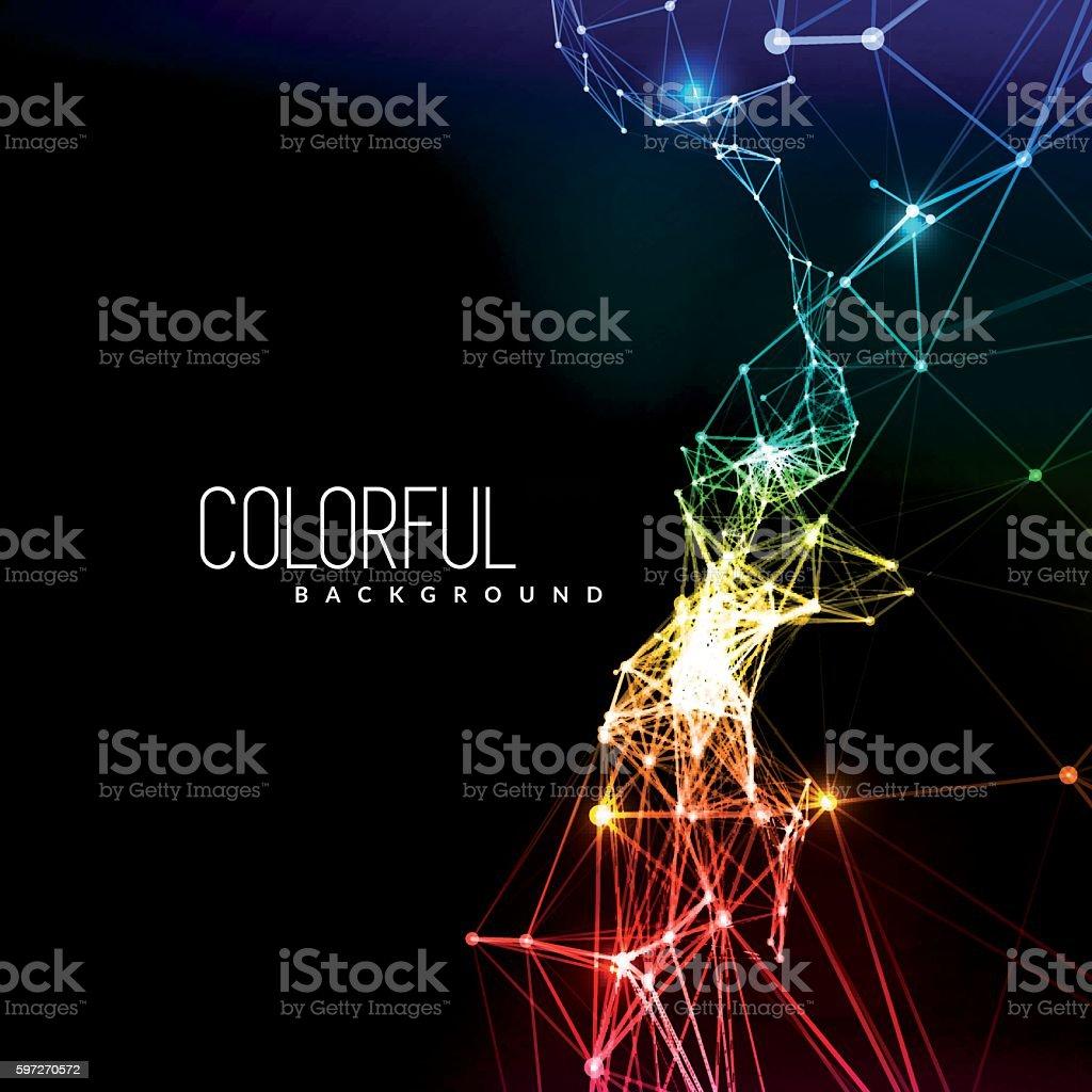 Abstrait fond de connexion au réseau  abstrait fond de connexion au réseau – cliparts vectoriels et plus d'images de adn libre de droits