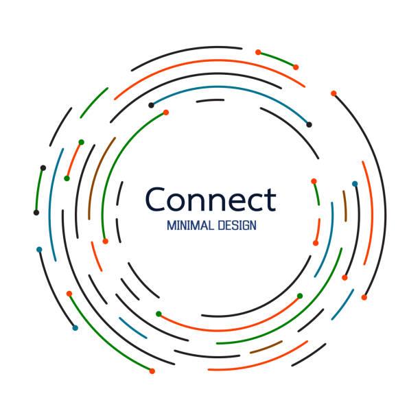 네트워크 연결을 추상화 합니다. 아이콘 로고 디자인입니다. 벡터 일러스트 레이 션 - 수다 stock illustrations
