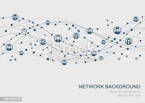 Vector banners of abstract network