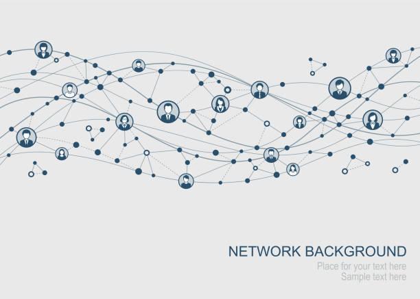 sieć abstrakcyjna - sieć komputerowa stock illustrations