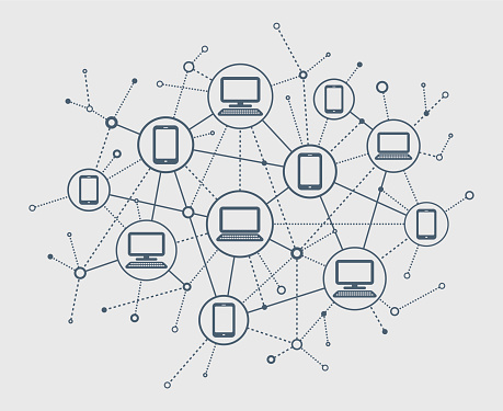 Vector illustrations of Abstract Network