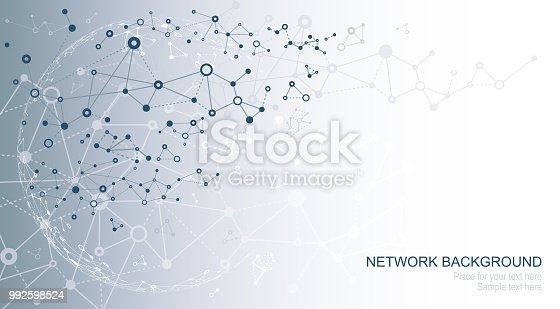 Vector illustration of abstract network