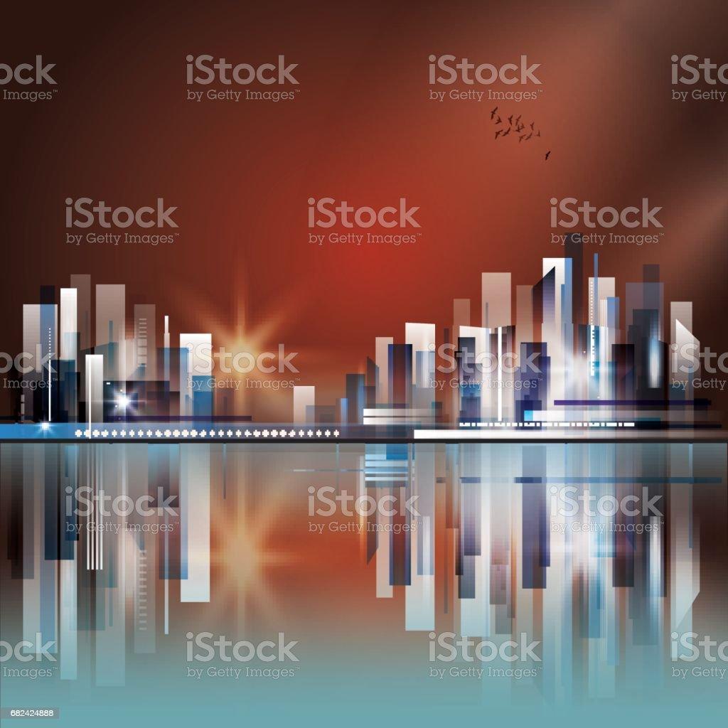 toits de la ville nuit r u00e9sum u00e9 vecteurs libres de droits et