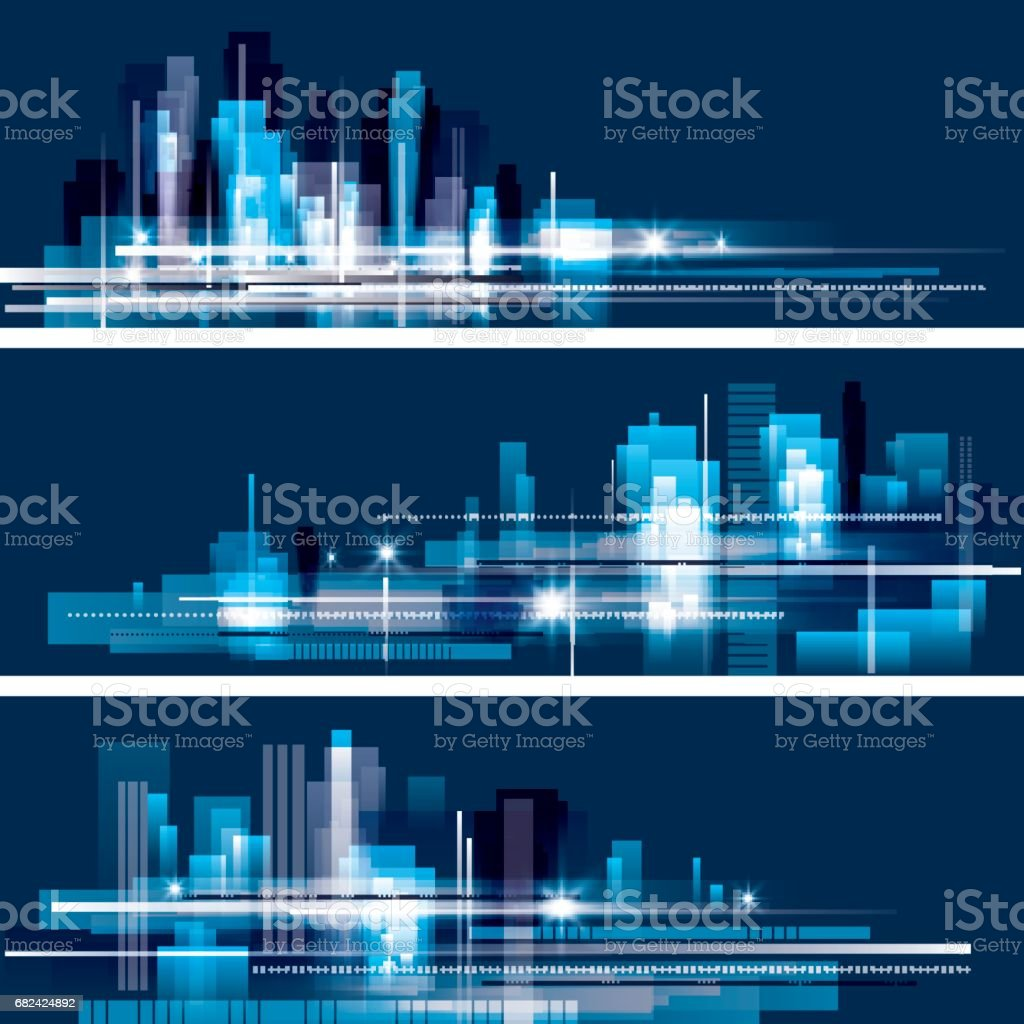 Abstract night city skyline royalty-free abstract night city skyline stock vector art & more images of abstract