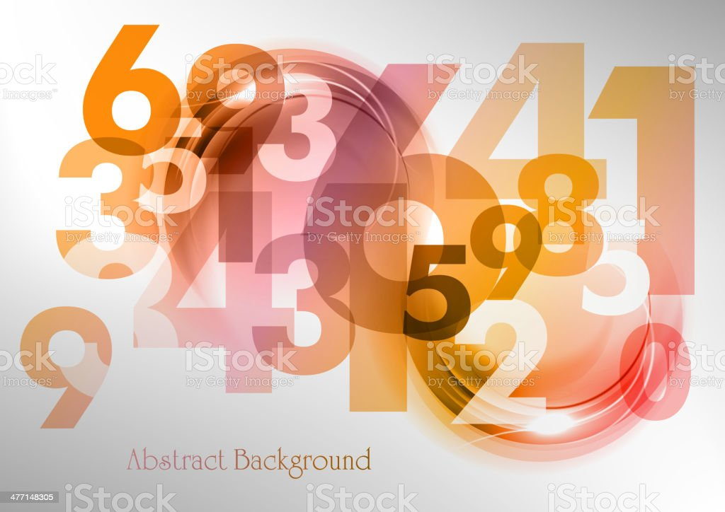 abstract numbers vector art illustration