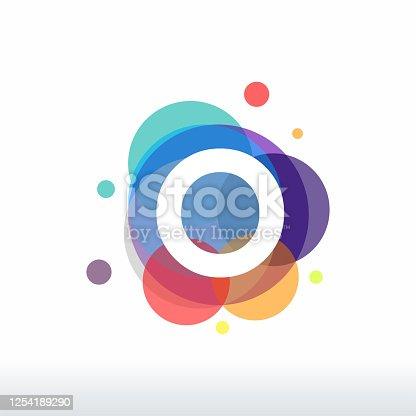 istock Abstract O Initial logo designs concept vector, Colorful Letter O logo designs 1254189290