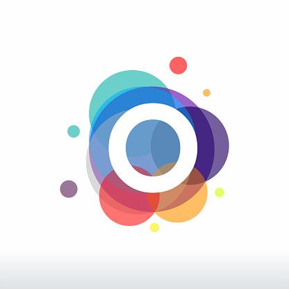 Abstract O Initial logo designs concept vector, Colorful Letter O logo designs