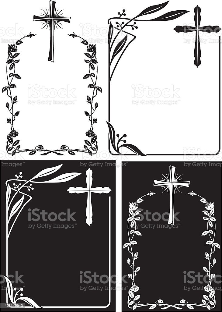 Abstract obituary design template vector art illustration