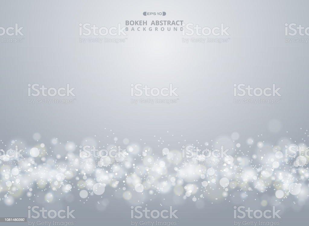 クリスマス グラデーション グレー ボケ背景の要約。 - お祝いのロイヤリティフリーベクトルアート