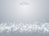 Abstract of christmas gradient gray bokeh background, vector eps10