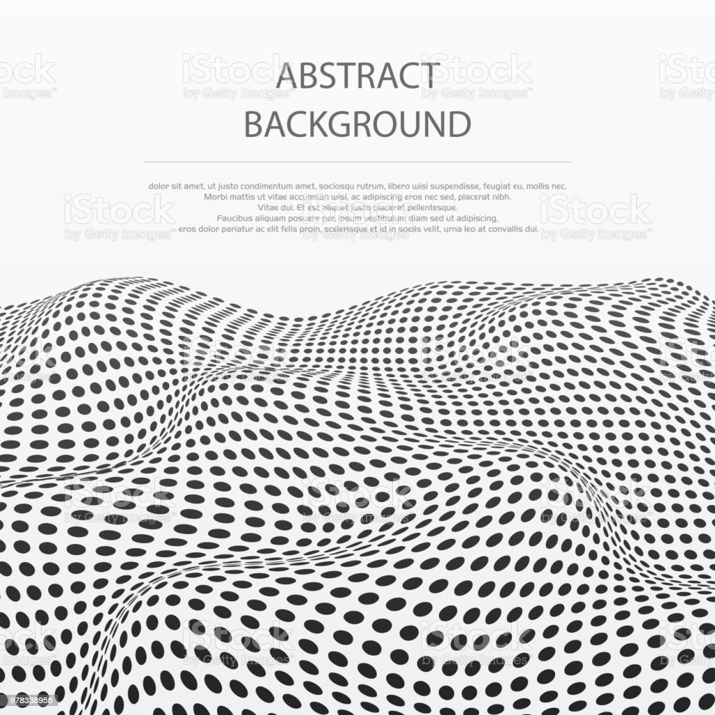 Abstract of dots stripe wave pattern background. vector art illustration