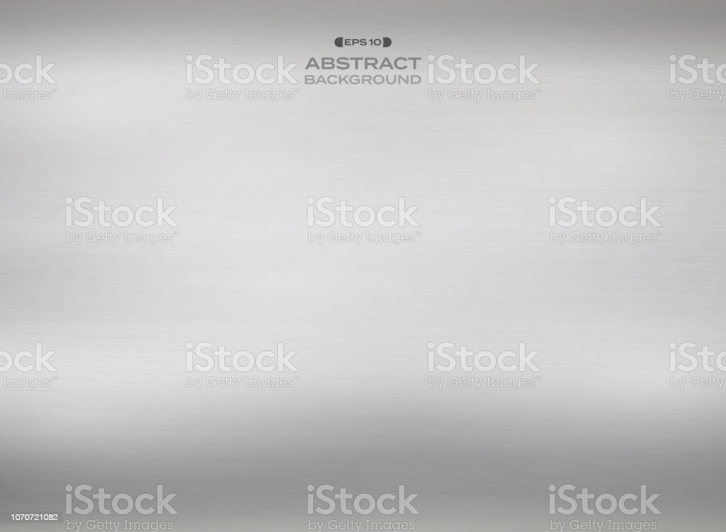 Abstract of gradient silver steel texture background. vector art illustration
