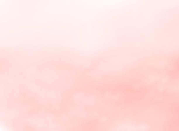 stockillustraties, clipart, cartoons en iconen met abstract van roze levend koraal kleur hemelachtergrond. - wollig