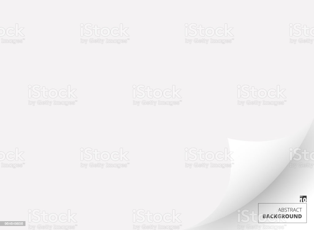 Abstract of white paper with flip page background. royalty-free abstract of white paper with flip page background stock illustration - download image now