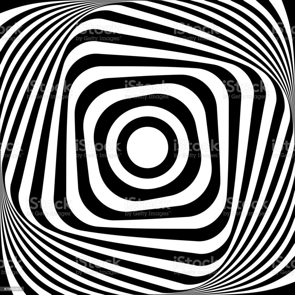 Abstract op art design. vector art illustration