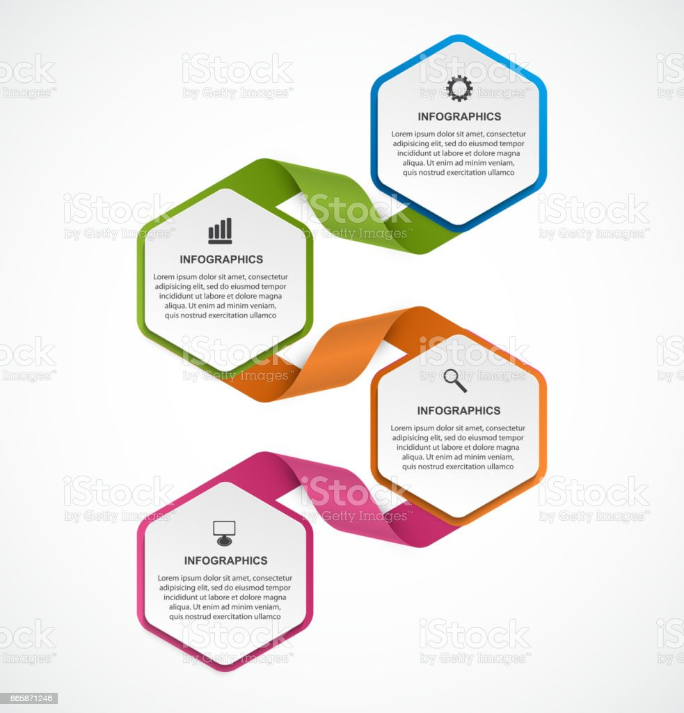 Abstract options infographics template. Infographics for business presentations or information banner. vector art illustration