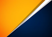 Abstract orange and blue overlap vector background, Can be used in artwork design