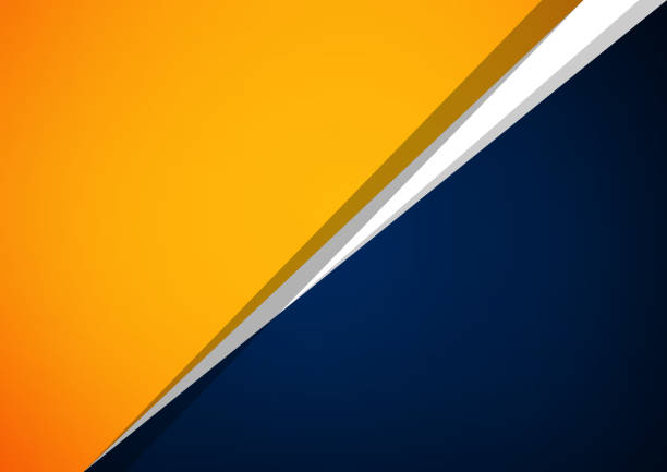 Abstract orange and blue overlap vector background, Can be used in artwork design Abstract orange and blue overlap vector background, Can be used in artwork design stability stock illustrations