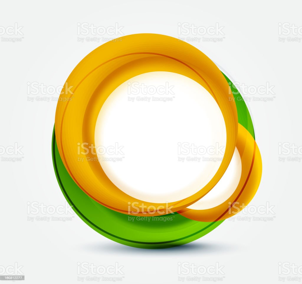 Abstract orange and green background royalty-free stock vector art
