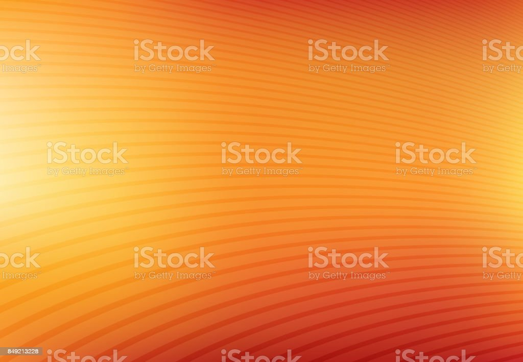 Abstract orange and yellow mesh gradient with curve lines pattern textured background, Vector