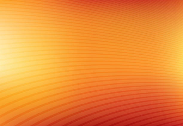abstract orange and yellow mesh gradient with curve lines pattern textured background, vector - orange color stock illustrations