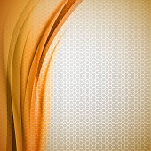 Abstract orange background with grey hexagon. Vector design.