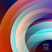 Vector abstract background with orange and blue color. 80's style background.