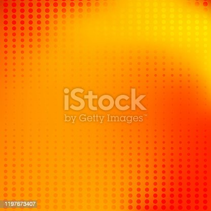 istock Abstract orange blurred background halftone dot pattern. 1197673407