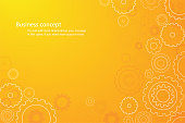 abstract orange cogs wheel background vector illustration EPS10