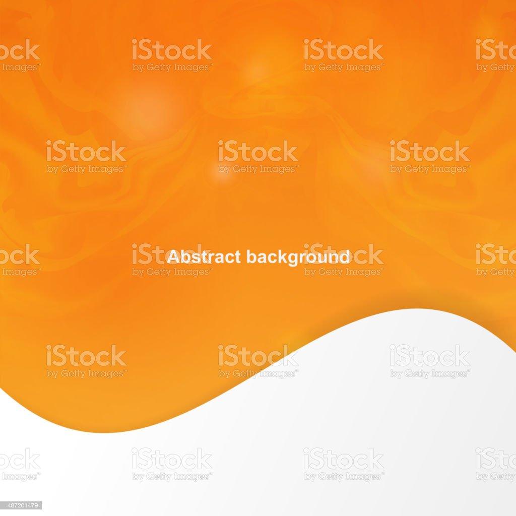 Abstract Orange Abdeckung Mit Weichen Linien Stock Vektor