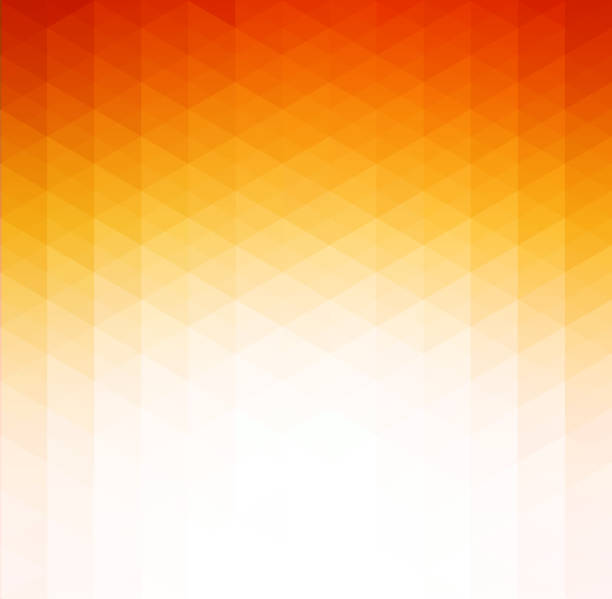 Abstract orange geometric technology background vector art illustration