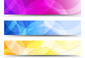 Abstract Orange Purple and Blue Web Banners Background