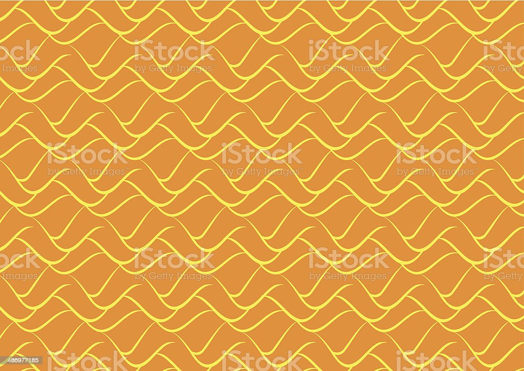 Abstract Orange Wave Pattern royalty-free stock vector art