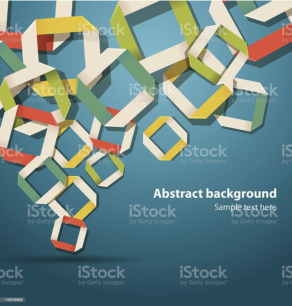 Abstract origami background in the top left corner royalty-free abstract origami background in the top left corner stock vector art & more images of abstract