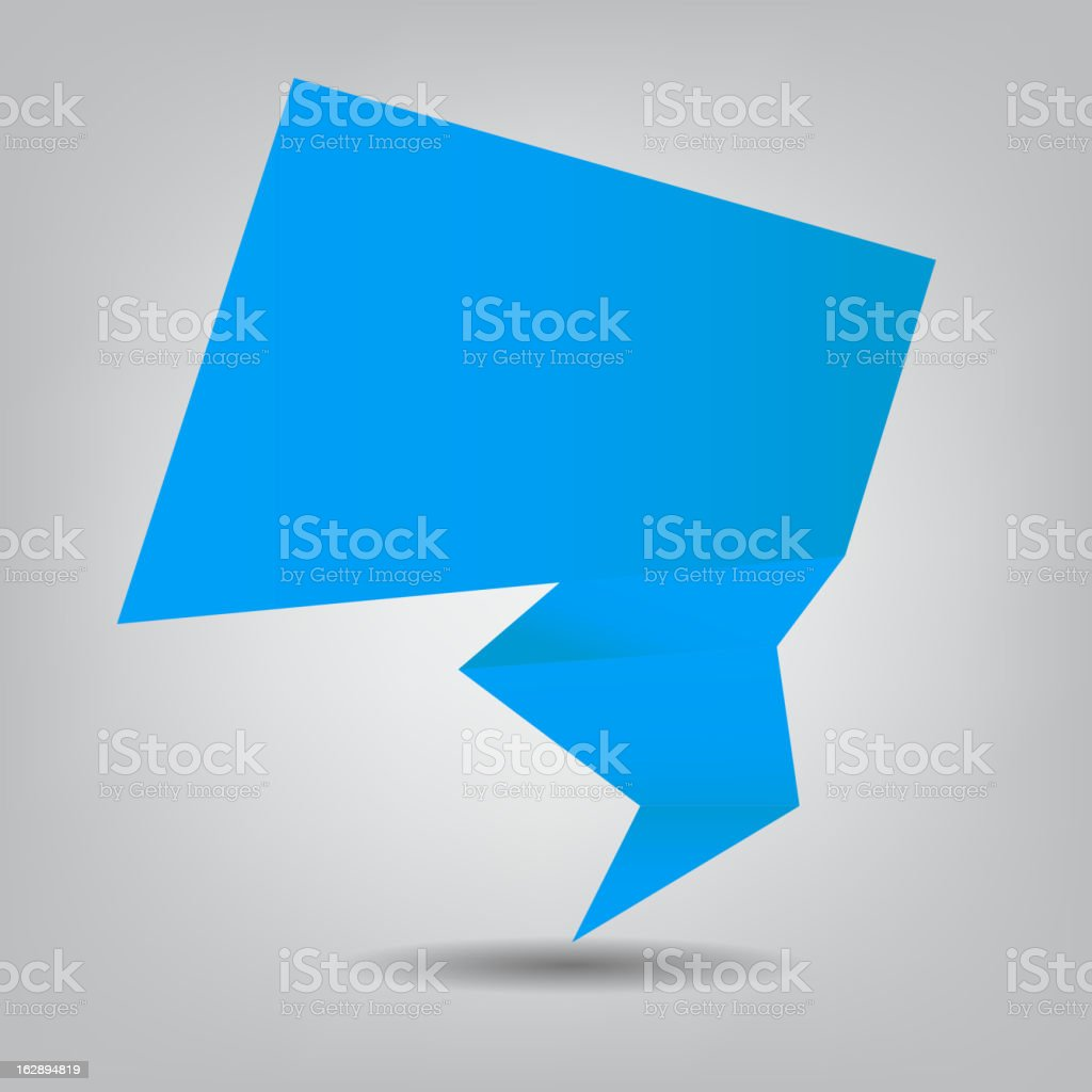 Abstract origami speech bubble vector background royalty-free stock vector art