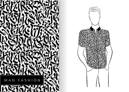 Abstracte Originele Naadloze Patroon Van Shir Stockvectorkunst en meer beelden van Abstract