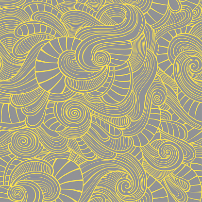 Abstract ornamental seamless pattern. Vector vintage yellow and grey background.