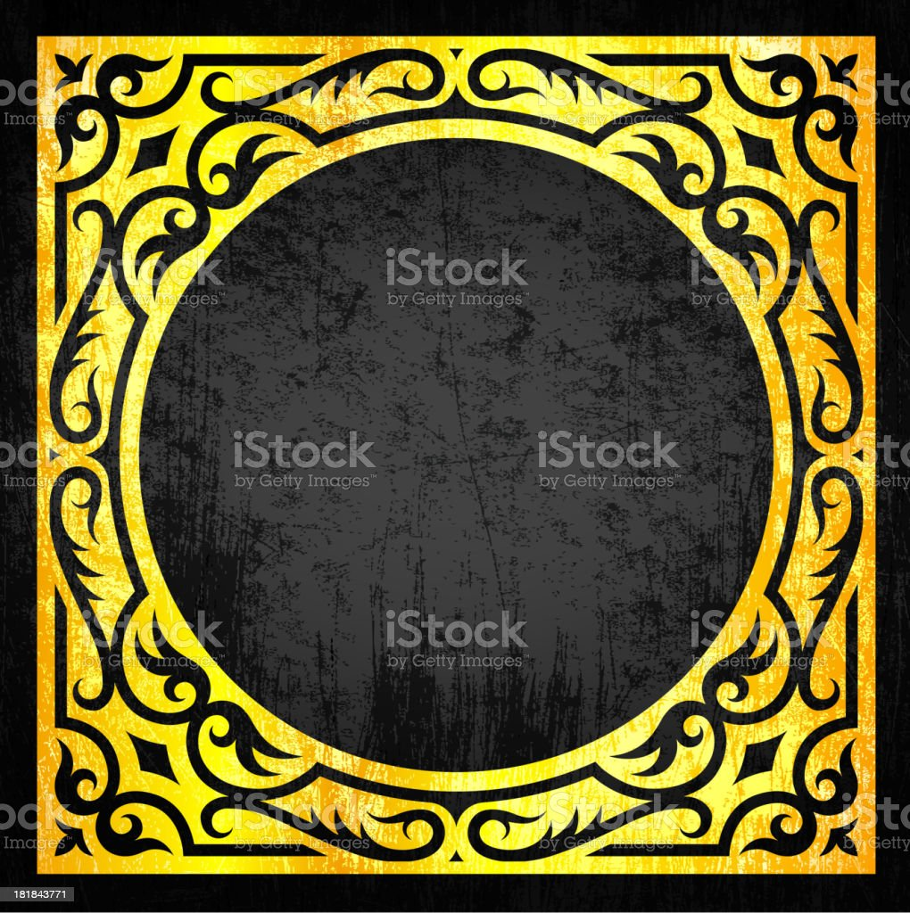 Abstract Ornate Frame Design royalty-free stock vector art