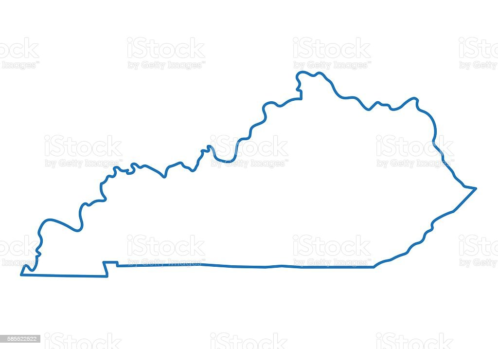 abstract outline of kentucky map stock vector art 585522522 | istock