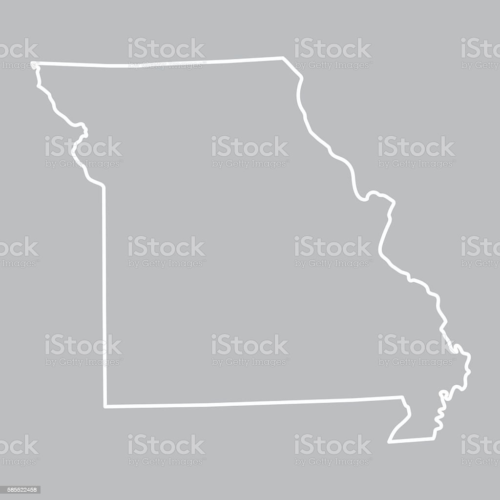 abstract outline of Missouri map vector art illustration