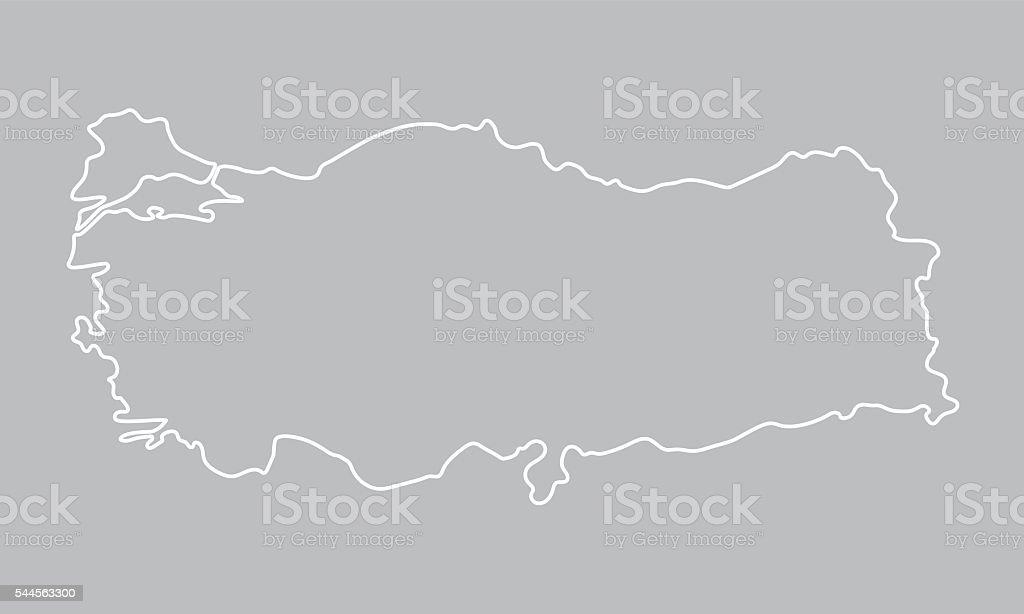 Abstrakten Umriss Karte Von Der Türkei Stock Vektor Art und mehr ...