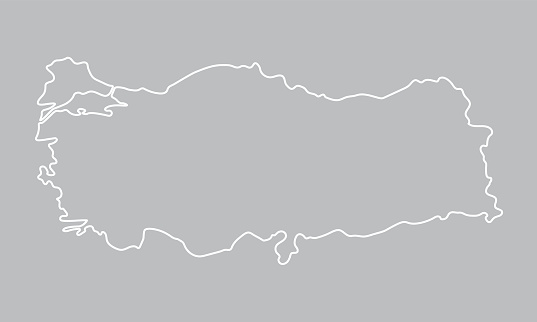 abstract outline of Turkey map